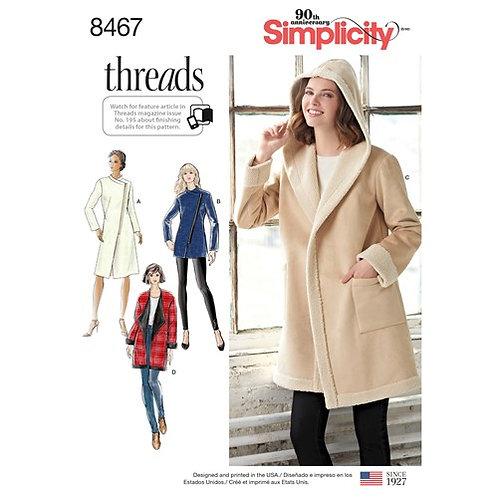 Simplicity 8467 Mantel oder Jacke