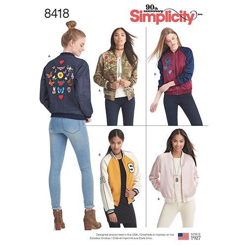 Simplicity 8418 Bomberjacke