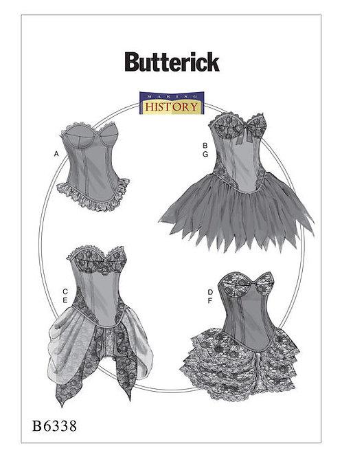 Butterick B6338 Korsett mit Rock
