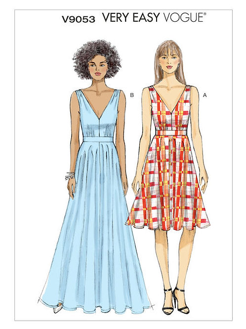 Vogue V9053 ärmelloses Kleid