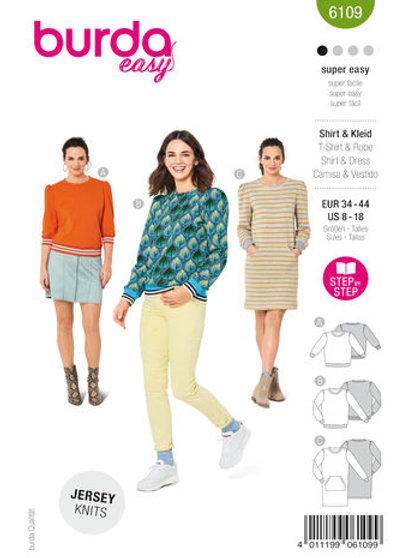 Burda 6109 Shirt oder Kleid