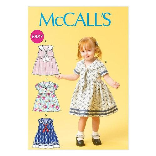 McCall`s M6913 Kleinkind-Kleidchen