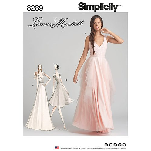 Simplicity 8289 Brautkleid / Abendkleid