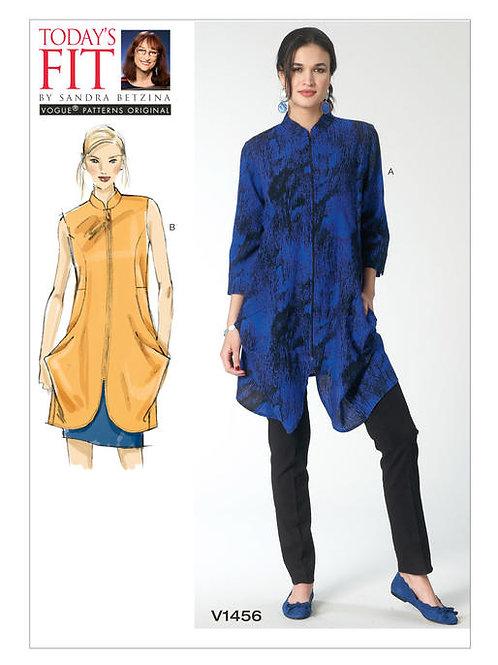 Vogue V1456 Tunika mit Stehkragen