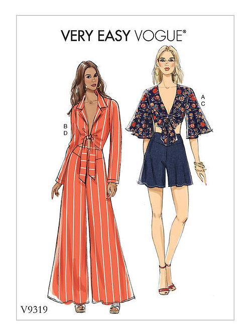 Vogue V9319 Wickelbluse, Hose & Shorts