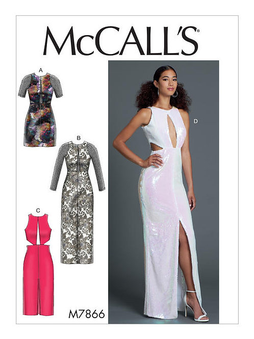 McCall's 7866 eng anliegendes Abendkleid