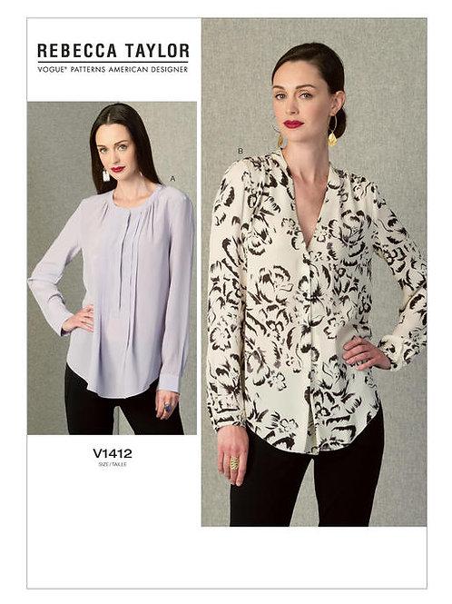 Vogue V1412 extravagante Bluseby Rebecca Tailor