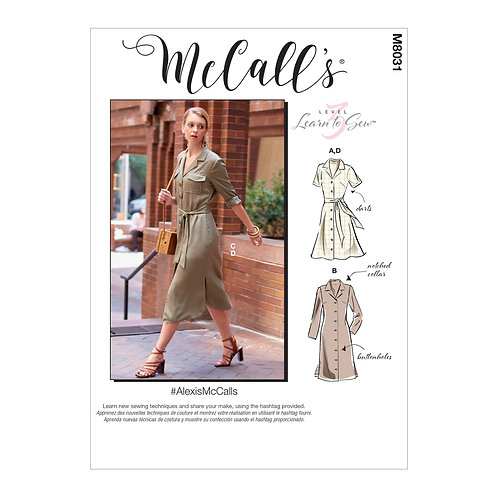 McCall`s M8031 Kleid