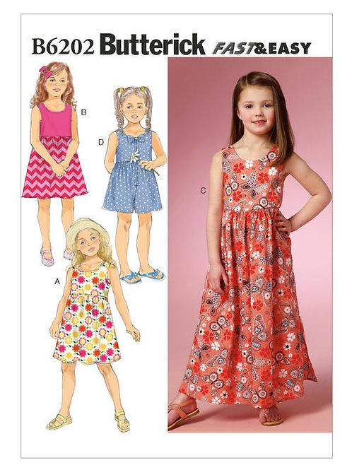 Butterick B6202 Kleid & Overall