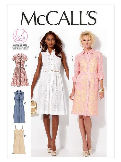 McCall's 6696 apartes Hemdblusenkleid