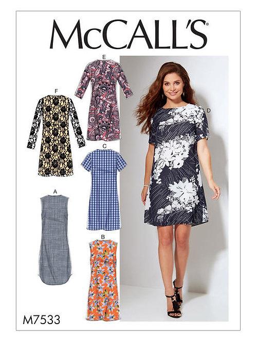 McCall's 7533 Kleid mit Variationen