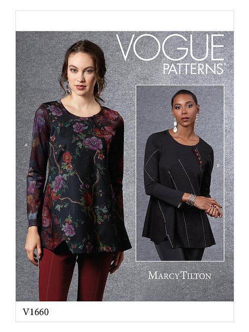 Vogue V1660 langärmlige Bluse by Marcy Tilton
