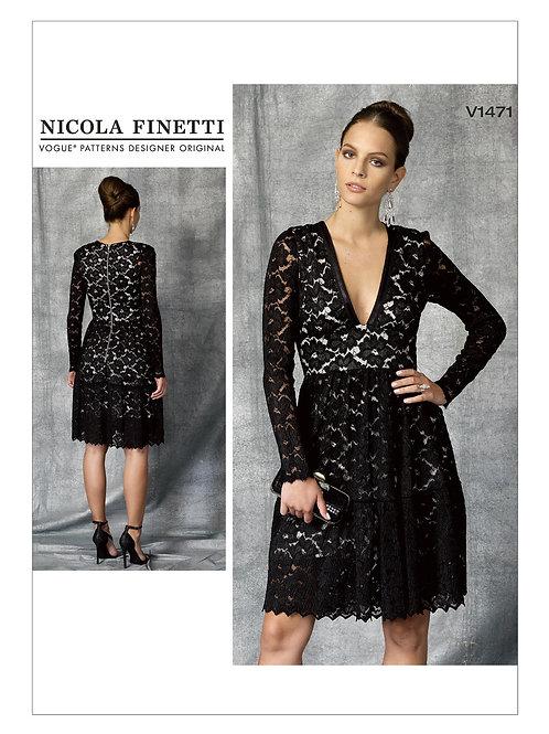 Vogue V1471 Cocktailkleid by Nicola Finetti