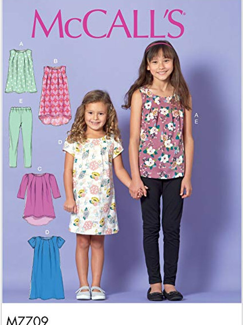 McCall`s M7709 Mädchenkleid und Leggings
