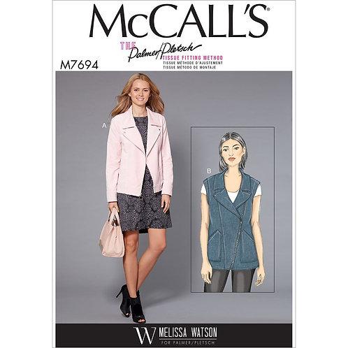 McCall`s M7694 Jacke / Weste