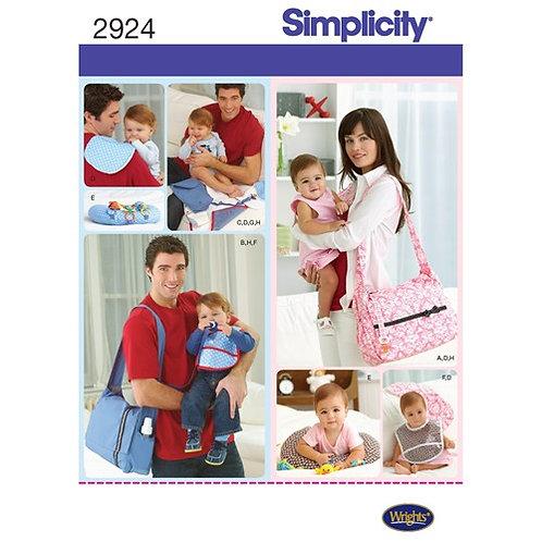 Simplicity 2924 Wickeltasche & Zubehör
