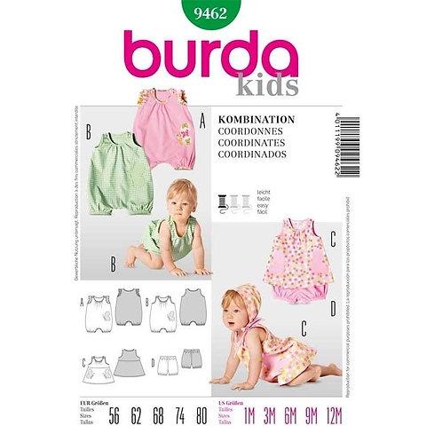 Burda 9462 Overall, Kleidchen & Höschen
