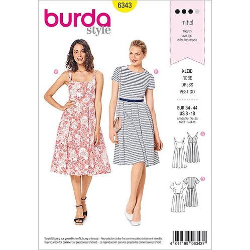 Burda 6343 Faltenrock - Kleid