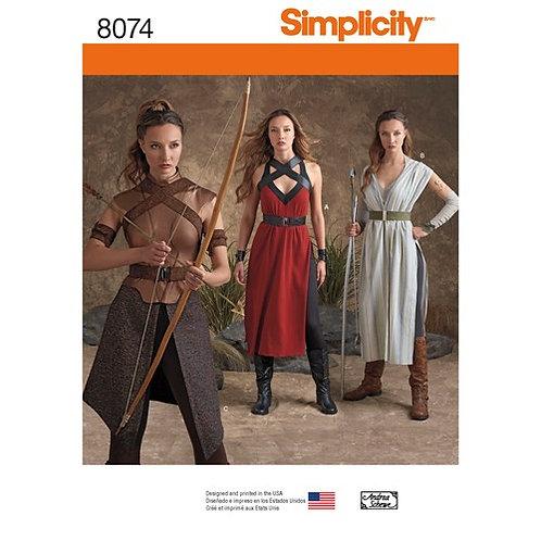 Simplicity 8074 Damen - Kriegerkostüm