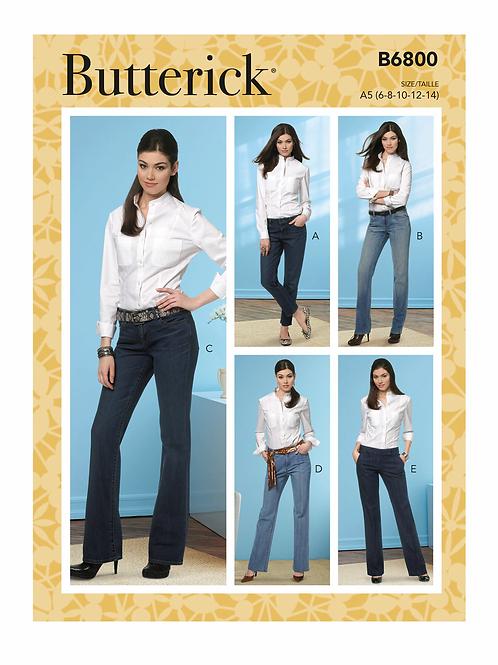 Butterick B6800 Jeanshose