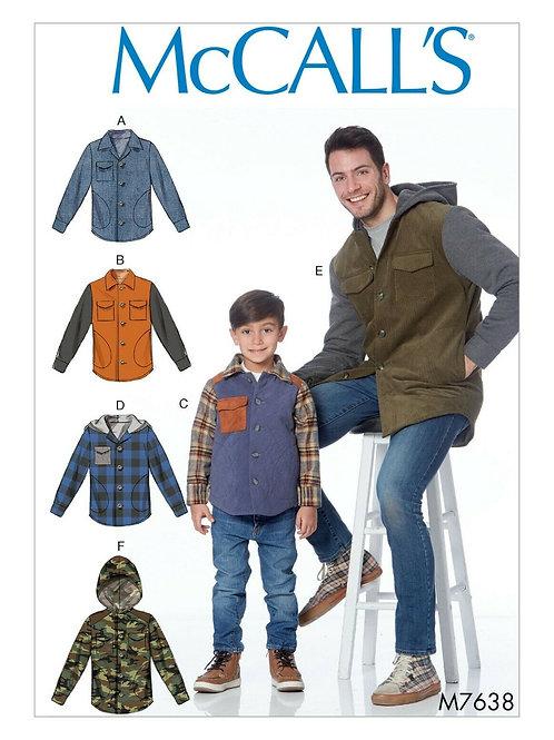 McCall`s M7638 Jacke für Vater und Sohn
