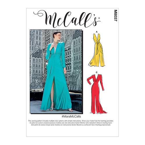 McCall`s M8037 langes Kleid