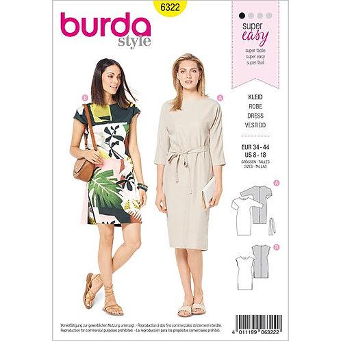 Burda 6322 einfaches Kleid