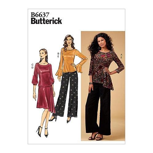 Butterick B6637 Rock, Hose und Shirt