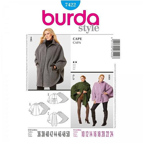 Burda 7422 Cape mit Varianten