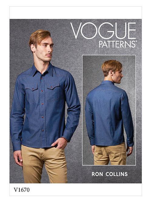 Vogue V1670 Jeanshemd für Herren by Ron Collins
