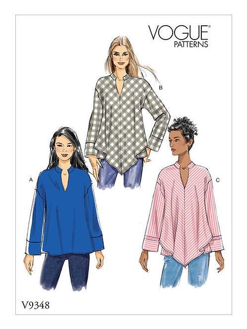 Vogue V9348 lockere Bluse oder Tunika