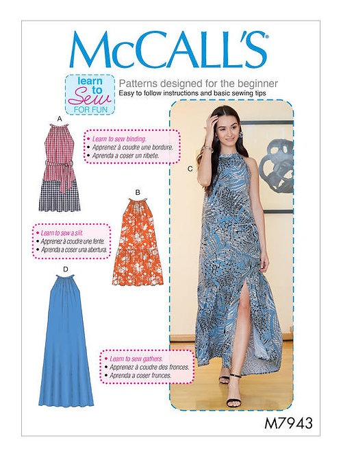 McCall's 7943 schulterfreies Kleid