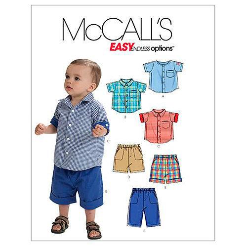 McCall`s M6016 Knaben-Hemd und Hose