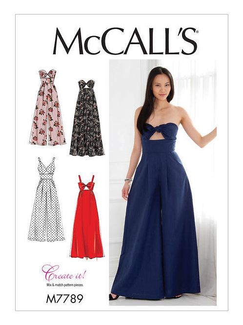 McCall's 7789 Miederkleid oder Overall mit Variationen