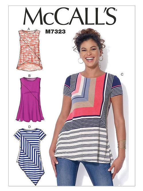 McCall's 7323 asymmetrisches Shirt