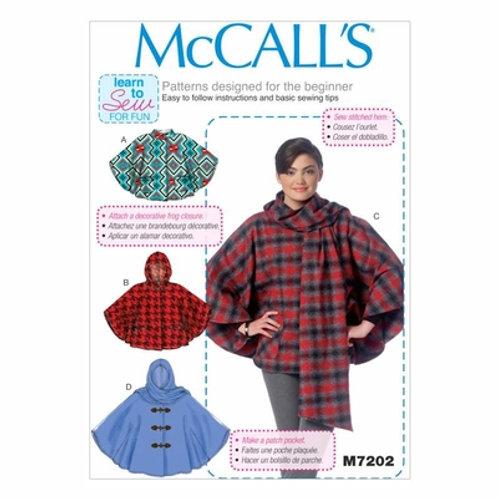 McCall`s M7202 Cape
