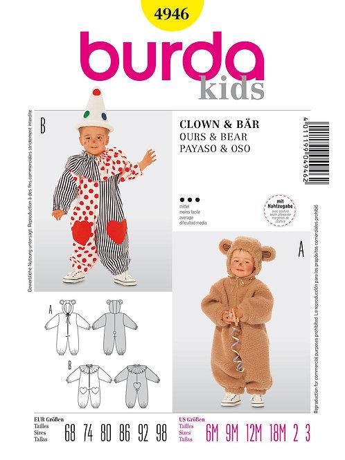 Burda 4946 Clown & Bär