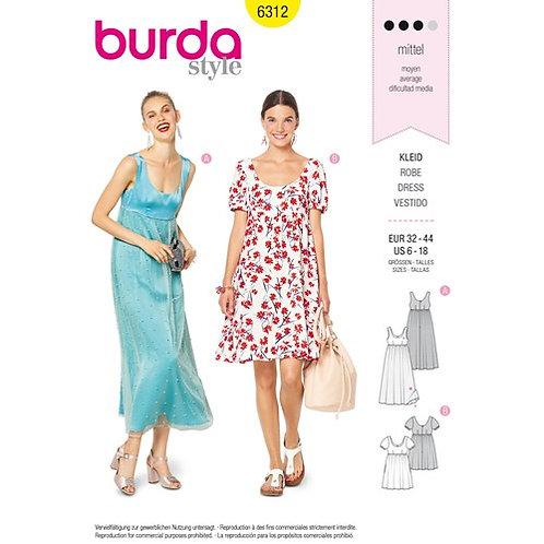 Burda 6312 sommerliches Kleid