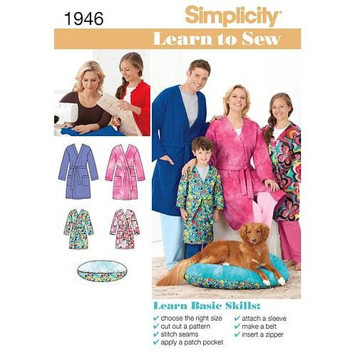 Simplicity 1946 Morgenmantel & Haustierbett