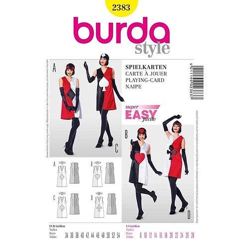 Burda 2383 Kleid im Spielkarten-Look