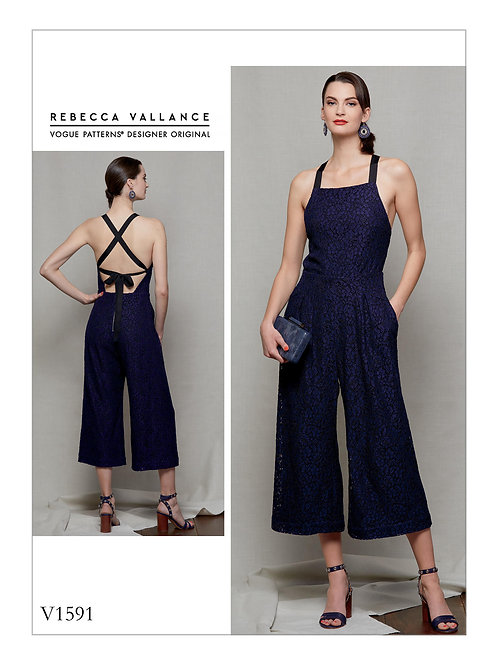 Vogue V1591 exclusiver Overall by Rebecca Vallance