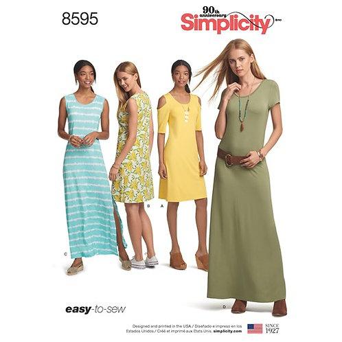 Simplicity 8595 Jersey - Kleid