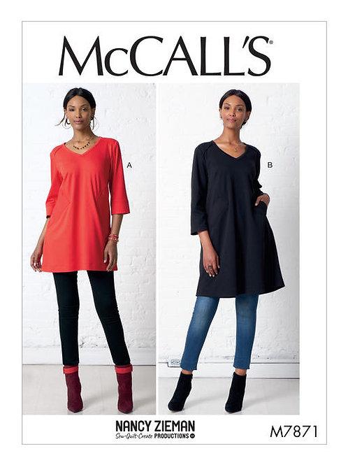 McCall's 7871 lockeres Kleid & Tunika