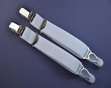 Strapsbänder 20mm mit Strumpfhalter- u. Hosenträger-Clip