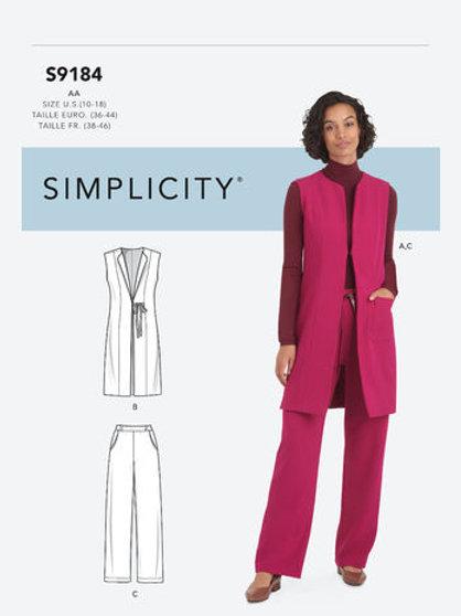 Simplicity 9184 Weste und Hose