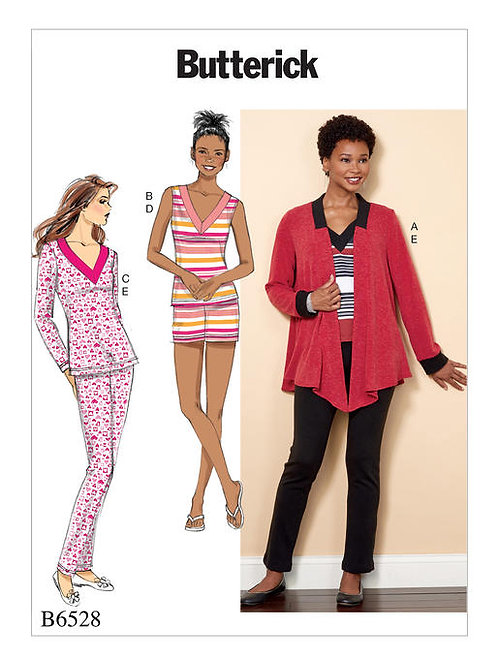 Butterick B6528 Strickjacke & Pyjama