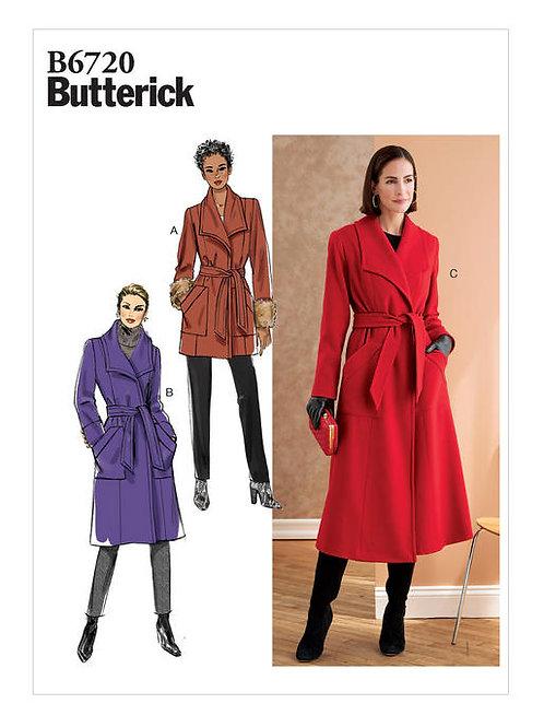 Butterick B6720 gefütterte Jacke & Mantel