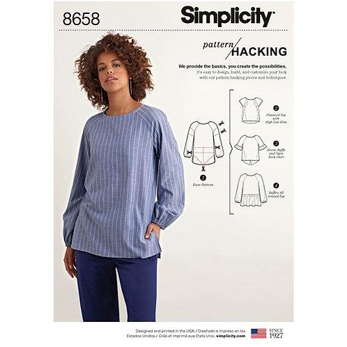Simplicity 8658 Kreativ - Bluse
