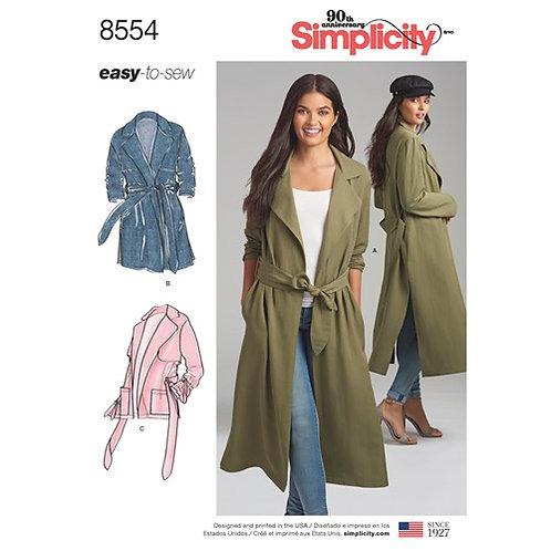 Simplicity 8554 Trenchcoat & Jacke