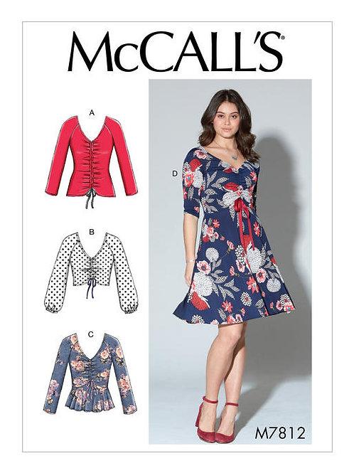 McCall's 7812 Jerseykleid & Top